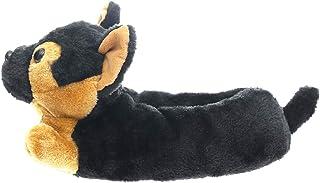 Millffy Pantuflas clásicas de conejo de peluche para adultos, pantuflas para niños