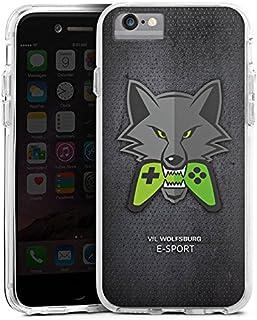 DeinDesign Apple iPhone 6 Bumper Hülle transparent Bumper Case Schutzhülle VFL Wolfsburg Esport Merchandise Fanartikel