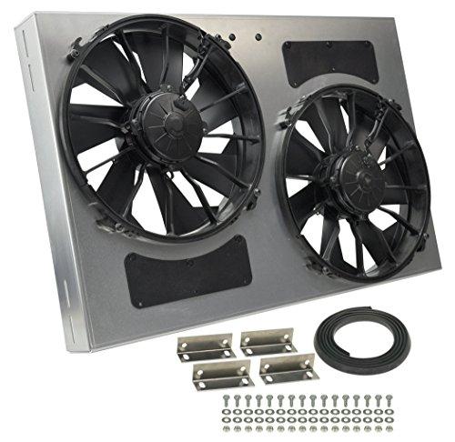 Derale Performance 16837 Gray/Black High Output Dual Radiator Fan