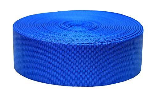 Strapworks Cincha plana de nylon de color – Correa para artes y manualidades, correas para perros, actividades al aire libre – 5,8 cm x 20 yardas, azul Pacífico