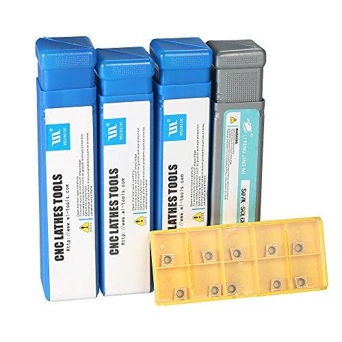 KKmoon 10pcs/box CCMT060204-HM Carbide Inserts + 6/7/8/10mm SCLCR06 Holder Boring Bar + 4pcs Wrench CNC Lathe Turning Tool