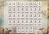 kartenorakel.com Lenormand Infotafel (8x4+4): DIN A4 Lernhilfe mit Bedeutungen der Einzelkarten und Häuser