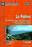 Hikeline/ Wanderführer: La Palma. Die schönsten Küsten- und Bergtouren im grünen Wanderparadies der Kanarischen Inseln, 1 : 35 000, wasserfest/reißfest, GPS-Tracks Download