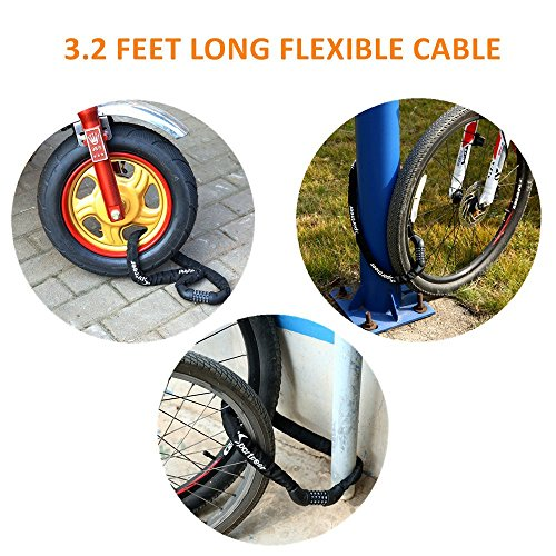 30% Sportneer Security Bicycle Lock 5-Digit Resettable Anti-theft Bike Locks