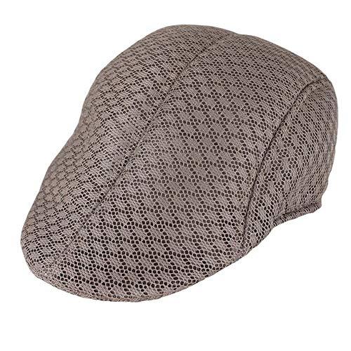JK Fashon Gorra de Boina de Verano para Hombres para Rejilla de ventilación Unisex Gorras Masculinas Casual Cómodo Belleza Sombrero Adulto sólido Cap-4, China, Talla única