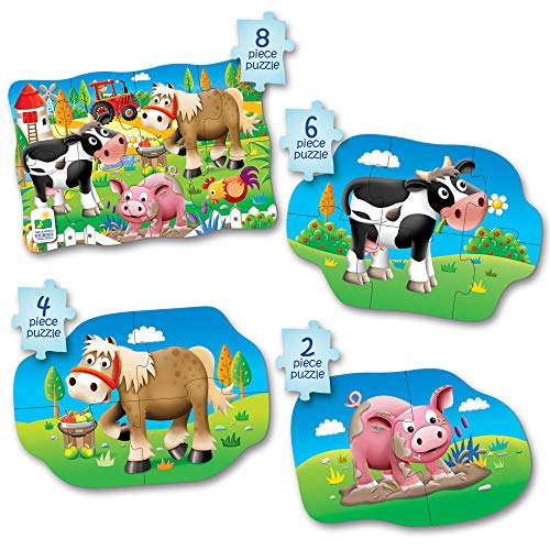 The Learning Journey Kit Mon Premier Puzzle 4-en-1 ! Ferme