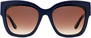 Jimmy Choo Square Sunglasses for Women - Brown, Roxie-S PJP Blue S 55