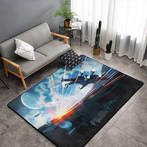 Matt Flowe Star Wars Sala de estar Alfombras 6'x8'Star Wars alfombra de la nave espacial para la cocina para la entrada