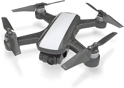 CAKG Avion Silencieux à Quatre Axes sans Brosse, positionneHommest Intelligent par Retour Intelligent pour Suivre Le tir du Drone de Transmission de voiturete WiFi,noir-No Remote Control
