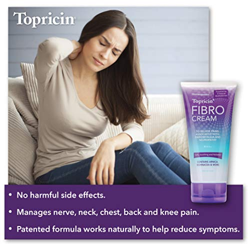 Topricin FIBRO Pain Relieving Cream (6 oz) – Rapid Relief For Fibromyalgia with Patented Formula - Reduces Duration and Intensity of Fibromyalgia Episodes, Improves Sleep and Restores Energy