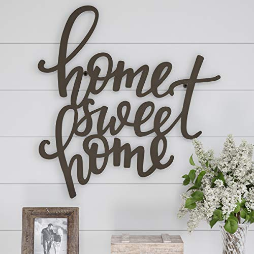 Lavish Home Metal Cutout Sweet Wall Sign-3D Word Art Home Accent Decor-Perfect for Modern Rustic or Vintage Farmhouse Style