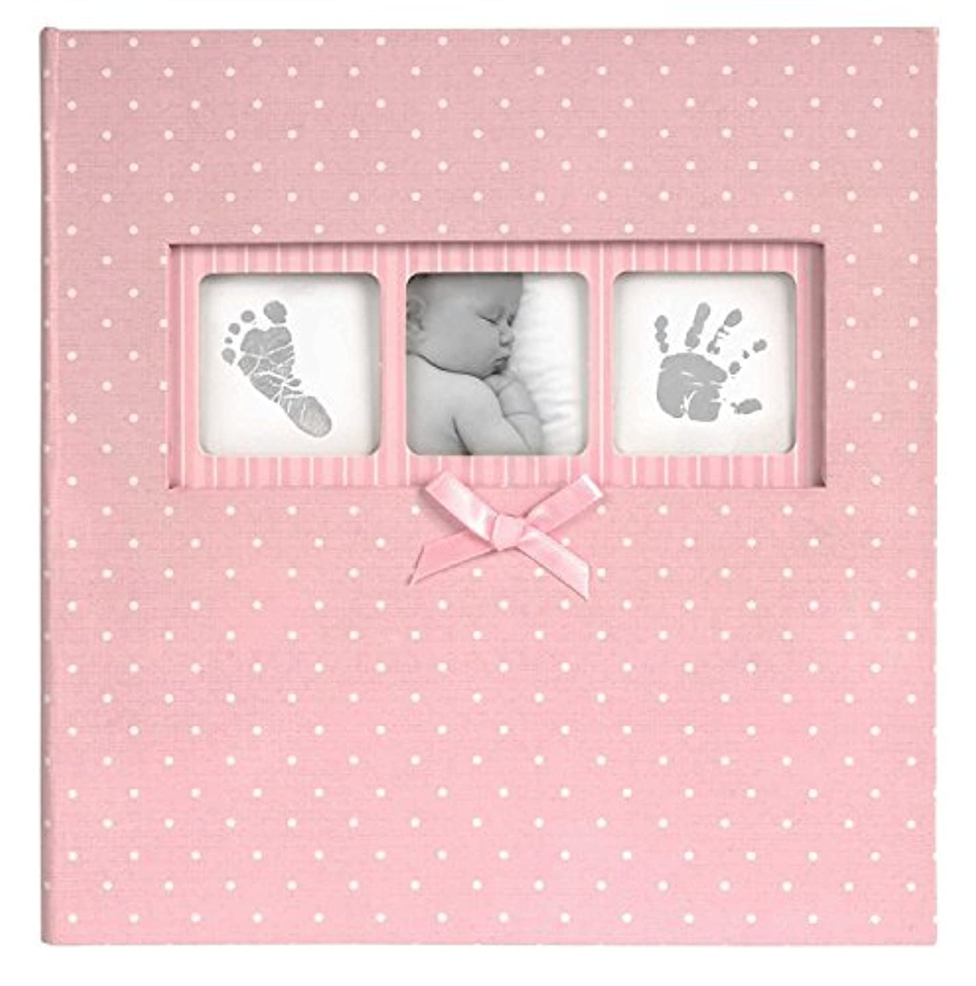 Discovery Channel Innova Editions 50-Page Baby Polka Dot Book Bound Traditional Album, Pink