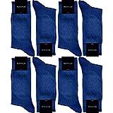 GAWILO Herren Socken aus 100prozent Baumwolle (8er-Pack) ohne drückende Naht - Komfortb& (47-50, blau)