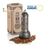 Coffee Grinder, Refillable Turkish Style Mill with Adjustable Grinder, Manual Coffee Mill with...