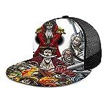 LAOLUCKY Snapback Sombreros de borde plano Hip Hop Gorra de béisbol ajustable para hombres y mujeres