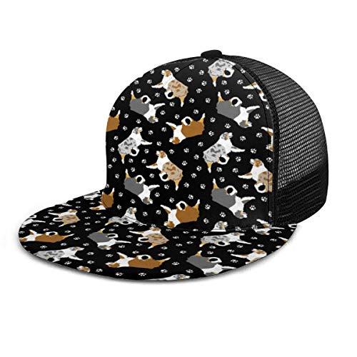 NA Australische herders en poot verstelbare cowboy denim hoed unisex hiphop honkbal caps