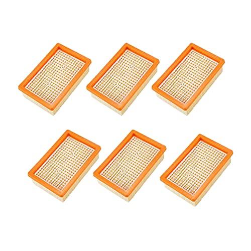 DA QING Accesorios para aspiradora Karcher MV4 MV5 MV6 WD4 WD5 WD6 WD5 WD6, piezas de repuesto filtro de hígado para el hogar (color naranja)