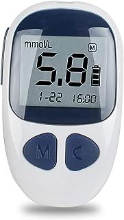 FJLOVE Glucómetro Medical Diabetes con 50 Tiras de glucómetro,1 Dispositivo de punción,50 lancetas y Estuche de Transporte,glucómetro de expulsión de un Toque