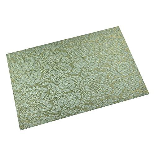 Keliour Tovagliette Set da tovagliette di 10 tappetini da Pranzo Antiscivolo Antiscivolo Isolamento Termico Lavabili per Casa (Color : Green, Size : One Size)