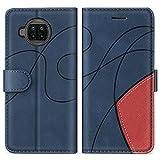 SUMIXON Hülle für Xiaomi MI 10T Lite 5G, PU Leder Brieftasche Schutzhülle für Xiaomi MI 10T Lite 5G, Kratzfestes Handyhülle mit Kartenfächern & Standfunktion, Blau