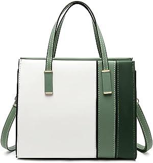 YeumouG Handtasche Damen Shopper Groß Elegant Schwarz Schultertasche Umhängetasche Frau Henkeltasche Damen Tasche (Grün)