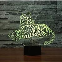 USB LEDランプスリープルーム タイガーシェイプ3D LEDナイトライトUSBカラフルなイリュージョンテーブルランプ家の装飾用ルミナリアベビーベッドルーム照明-A2157_ブルートゥース