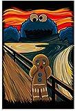 HuGuan Leinwand Bilder Kunst 60x90cm Öl auf Sesamstraße