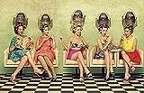 Lienzo decorativo para pared, decoración divertida de peluquería, mujer vintage, estilista, póster de peluquería, póster impreso, regalo para decoración del hogar, 30,5 x 45,7 cm
