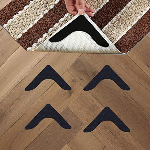 Topcovos - Almohadilla antideslizante para alfombras de doble cara, antideslizante, reutilizable y lavable, para alfombras y alfombras (4 unidades)