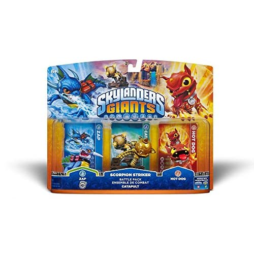 ACTIVISION Skylanders Giants: Personaggi Battle Pack Catapult (Zap + Scorpion Striker + Hot Dog)