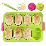 KeepingcooX Mini teglia da forno per baguette, 34 x 24 cm, padella antiaderente - Vassoio ...