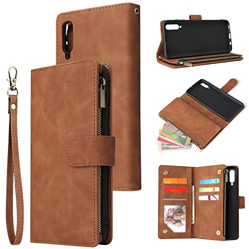 UEEBAI Card Slots Zipper Wallet Case -Samsung A