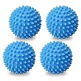 berglink 4 Stück Trocknerbälle, Wiederverwendbare Wäschekugeln Wäschetrockner Bälle waschen Dekontamination Anti-Wickel
