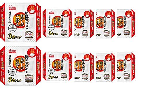 アイリスオーヤマ ごはんパック 150g 3個パック×10個セット 国産米100% 低温製法米のおいしいごはん 非常食 レトルト