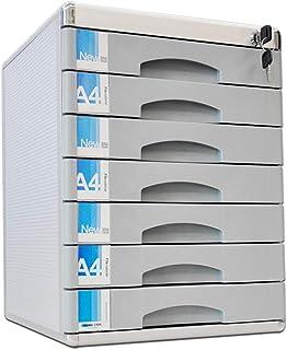 PQXOER Armoire de Classement Classeur 7 Couches Tiroir Classeur Mobile en Aluminium fichier fichier Bureau Armoire de Bure...