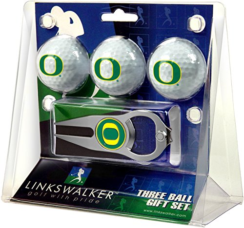 Amazing Deal NCAA Oregon Ducks - 3 Ball Gift Pack with Hat Trick Divot Tool