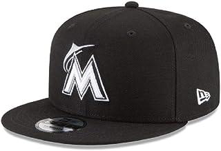 6d480b99 New Era Miami Marlins MLB Basic Snapback Black White 950 Adjustable Cap