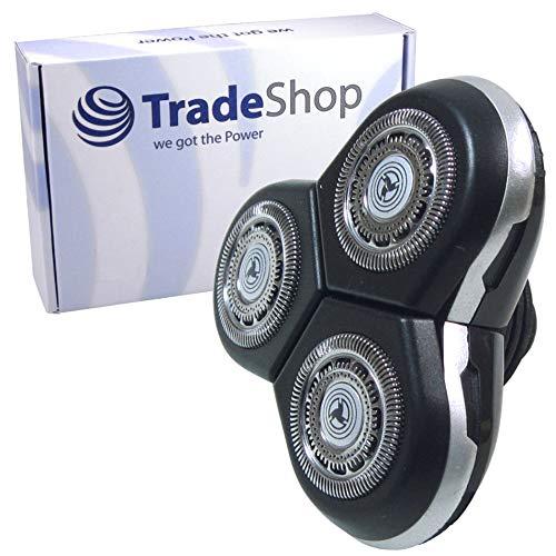 Trade-Shop Ersatz für Scherkopf Philips Arcitec SensoTouch 3D Shaver RQ1050 RQ1250 S7000 S9000-Serie Rasierkopf Ersatzscherkopf mit Schutzkappe Abdeckung