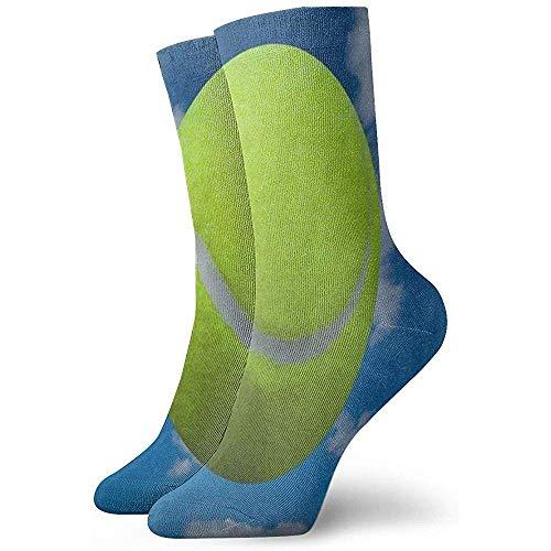 Dydan Tne Crew Socken Tennisball über bewölktem Himmel Athletic Socks Custom Personalized Short Boot Stocking