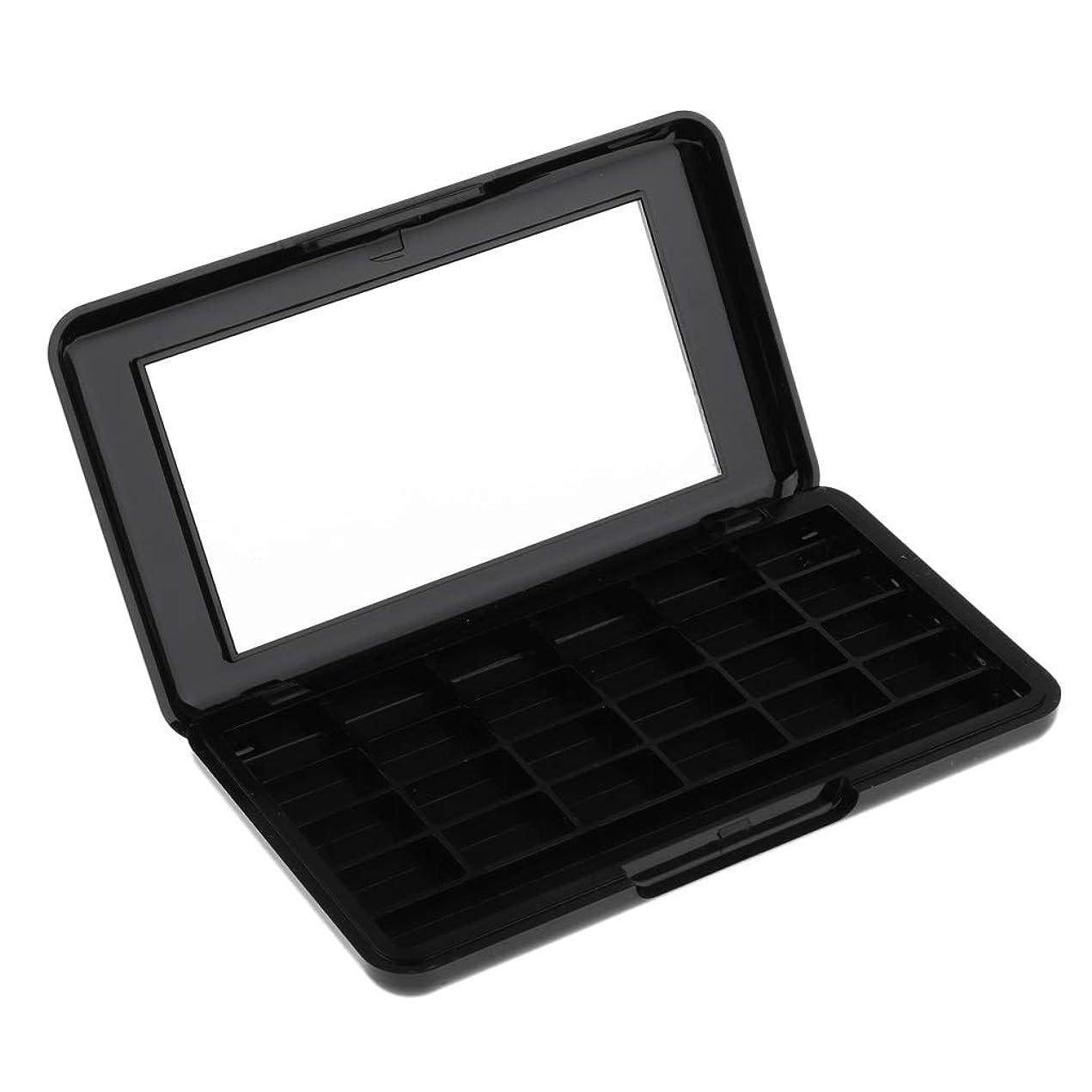 無許可自動化シェフSM SunniMix リップグロスケース アイシャドウケース 空の化粧ケース 化粧パレット 2色選ぶ - ブラック