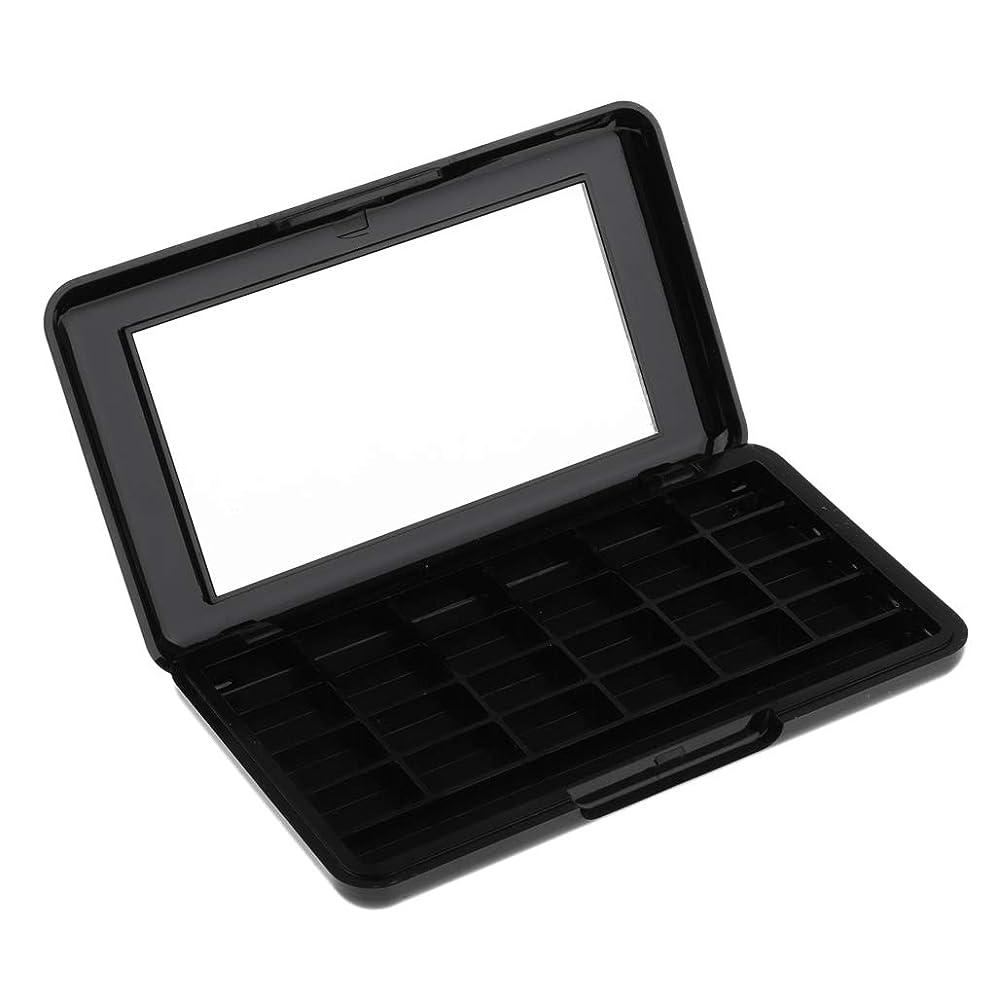 アピールローマ人大きいSM SunniMix リップグロスケース アイシャドウケース 空の化粧ケース 化粧パレット 2色選ぶ - ブラック