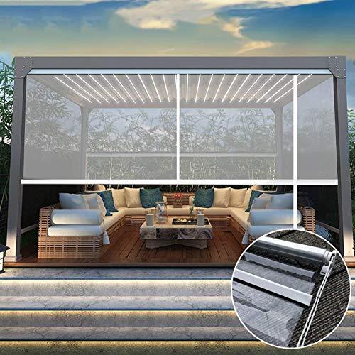 Gordijn van bamboe Persianas Enrollables Transparentes del PVC del Plástico del Balcón de La Pérgola del Patio, para Ventanas y Puertas, Escritorio del Mostrador de La Tienda de Oficina del Hotel
