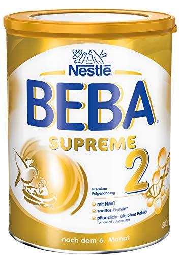 Nestlé BEBA SUPREME 2 Folgenahrung: nach dem 6. Monat, Pulver, im Anschluss an das Stillen, 1er Pack (1 x 800g)
