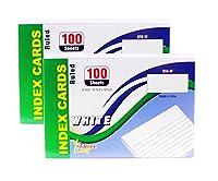 Northland Wholesaleインデックスカード 4x6インチ 罫線入り ホワイト 100枚入 (100枚入り2パック)