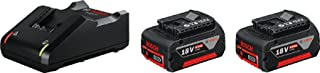 Bosch Professional 18V System Accu-Starterset (2 X 4,0 Ah Accu + Oplader Gal 18V-40, In Doos)