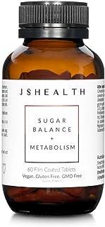 JSHealth Vitamins, Metabolism and Sugar Support Formula, Blood Sugar Balance, Healthy Natural Energy Support, Metabolism Boosting Supplement (60 Capsules)