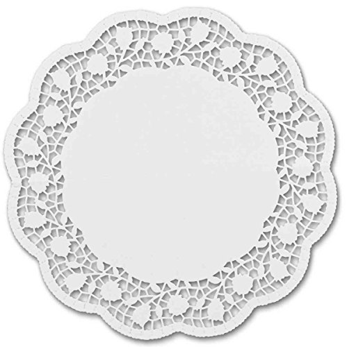 Staedter Moule à gâteau Rond, Blanc, napperons, 6 pièces, Papier, Blanc, 36 cm