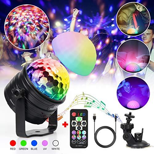 Discokugel Kinder infinitoo LED Discolicht Musikgesteuert RGB Lichteffekte Disco Partylicht mit Fernbedienung | USB Stimmungslicht Nachtlicht...