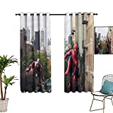 Cortinas exclusivas para el hogar, The Avengers, Spider_man, cortinas opacas para dormitorio, cocina y sala de estar, 106 x 160 cm