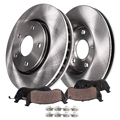Detroit Axle - Both (2) Front Disc Brake Kit Rotors w/Ceramic Pads w/Hardware for 2005-2006 Chevy Equinox - [2006 Pontiac Torrent] - 2002-2007 Saturn Vue